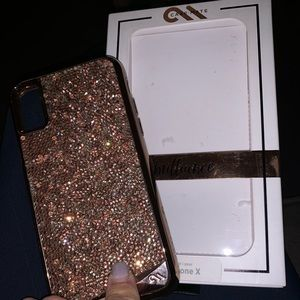 iPhone X sparkle/ glitter military strength case